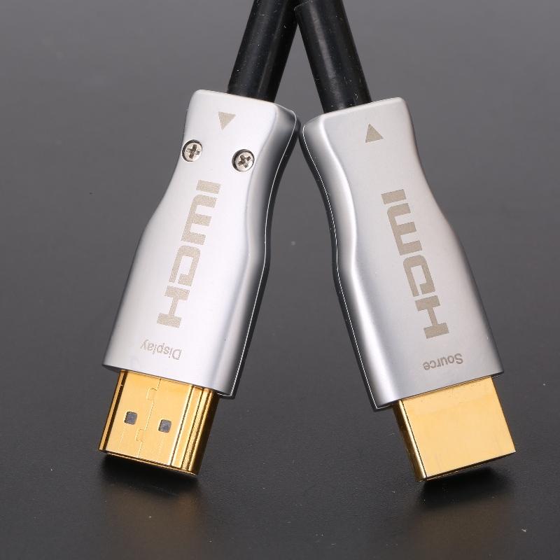 HDMI 2.0 Cábla Optúil Gníomhach Hibrid (AOC) 4K HDMI Cábla