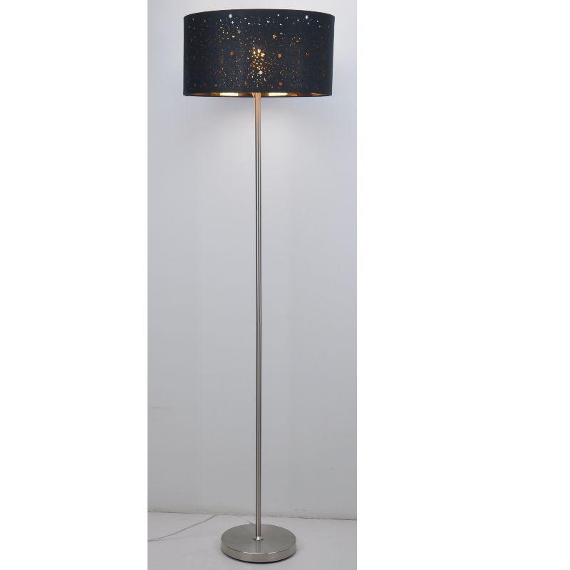 Lampa lampa le scáth fabraice dubh gearrtha léasair