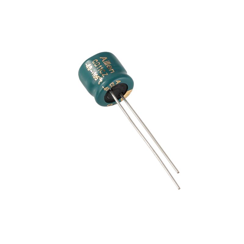 Capacitor leictrealaíoch alúmanaim CD11EZ plug-in