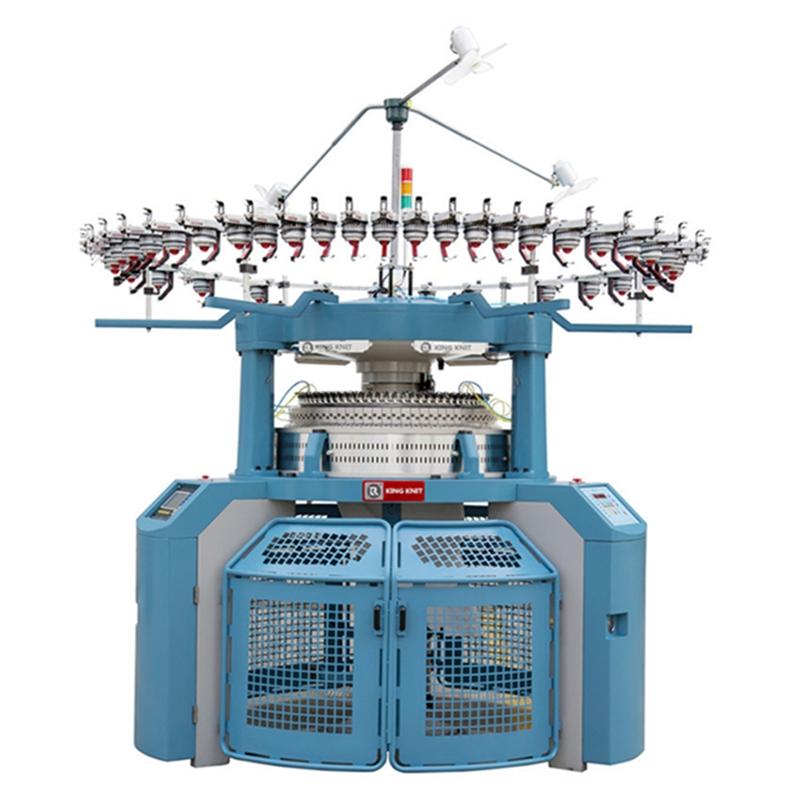 Täielikult arvutiseeritud põimitud ribide ringkudumismasin