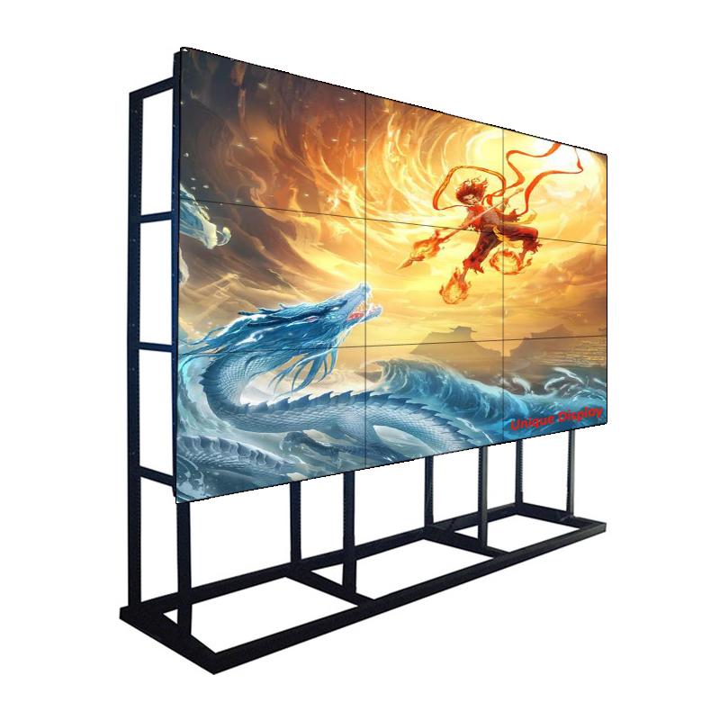 55 bech 1.7 mm bezel 500 Taispeántas Monatóireachta Ballaí Físe NIT Samsung LCD don Ionad Ceannais, Meall Siopadóireachta agus Siopa Slabhra