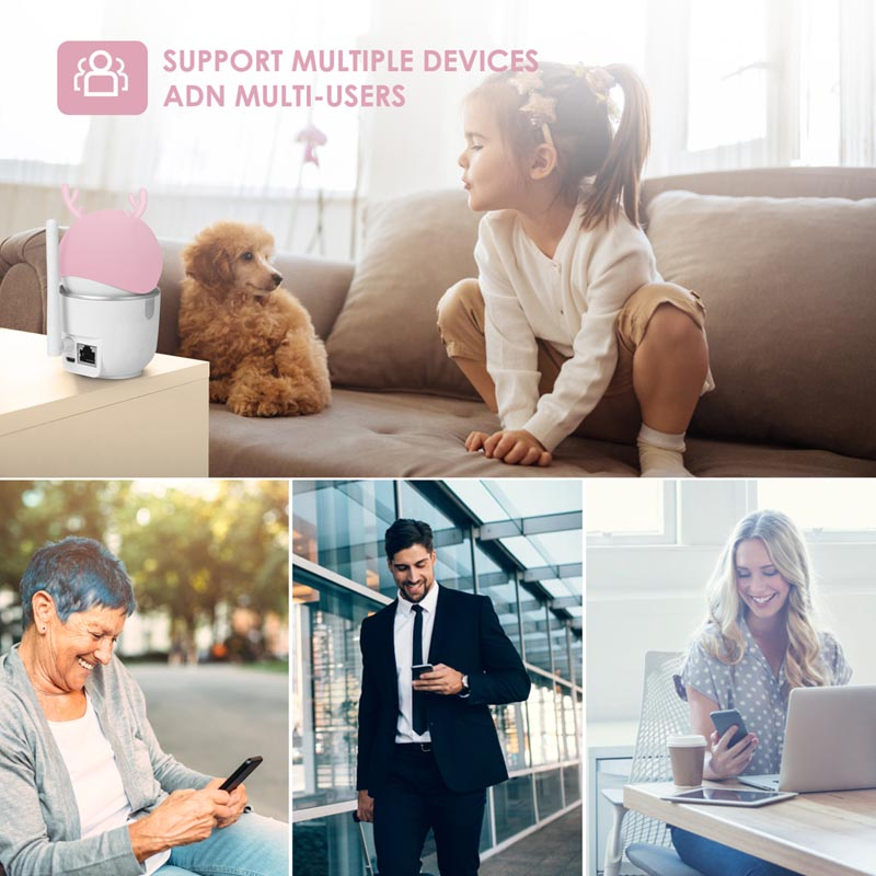 2MP 1080P HD Smart Home AI Wireless Pan Tilt IP kaamera