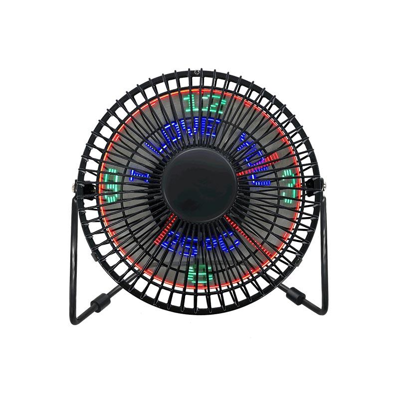 Laua USB LED Clock ventilaator koos temperatuurinäidikuga(6 tolline)